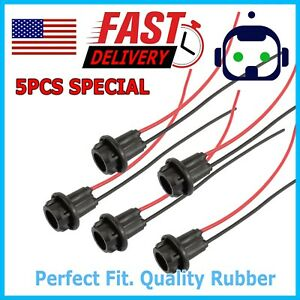 5pcs T10 Socket Clearance Cab Marker Light Holder Replacement Connector Harness