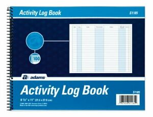 Activity Log Book Spiral Bound 8 5 X 11 Inches 100 Pages White wo ack White