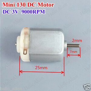 Dc1 5v 3v 9000rpm Small Micro Mini 130 Electric Motor For Hobby Rc Toy Car Model