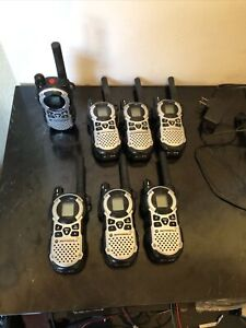 Lot Of 7 Motorola Talkabout Mt352tpr Gmrs Two Way Radio Walkie Talkie Chargers