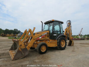 2006 Case 580 Super M Series Ii Backhoe Wheel Loader 3 Way Bucket Cab Bidadoo