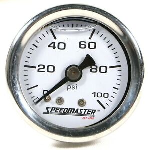 Speedmaster Pce357 1004 0 100psi Liquid Filled Fuel Pressure Gauge 1 8 Npt