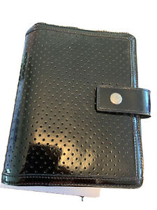 Franklin Covey Black Patent Leather Compact Binder