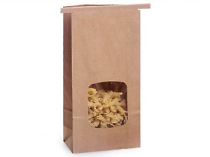 25 1lb Tin Tie Bakery Bags With Window Kraft