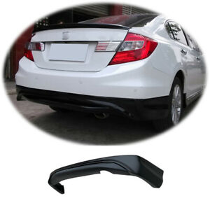 Matte Black Fit For Honda Civic 9th 2012 2013 Rear Bumper Lip Diffuser Bodykit
