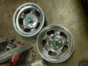 Just Polished 15x7 Western Slot Mag Wheels Ford Dodge Mags Mopar 442 Gto Ss Van