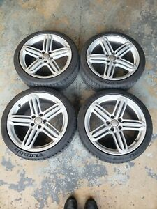 Oem 2014 Audi B8 5 S4 Set Of Wheels With Michelin Pilot Sport 4s Tires Good Cond