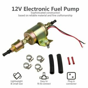 Universal External 12v Electric Fuel Pump Kit Installation 5 9 Psi 30gph Ga8012s