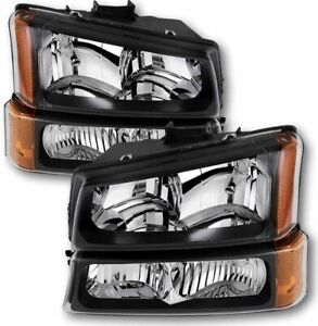 Fit For 2003 2007 Chevy Silverado 1500 2500 3500 Headlights Turn Signals 4pcs