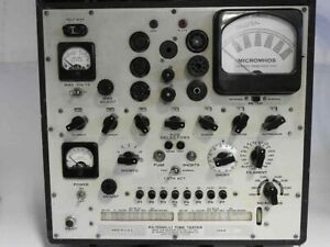 Western Electric Ls 15560 l Hickok 539b Transconductance Tube Tester To Repair