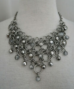 COOKIE LEE chain amp; bead Bib necklace $18.00