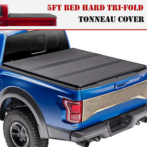 For 2019 2020 Ford Ranger Pickup 5ft Truck Bed Hard Tri fold Tonneau Cover