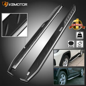 For 2019 2020 Toyota Rav4 Side Step Bars Running Boards Aluminum 2pc