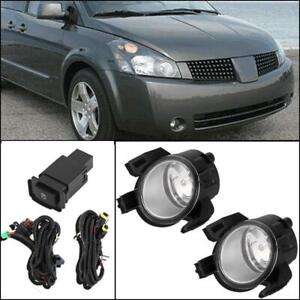 For 2005 2006 Nissan Altima Clear Fog Lights Driving Bumper Lamps Switch