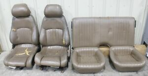 1993 1995 Pontiac Trans Am Ws6 Tan Leather Seat Set Front rear Used Gm cores