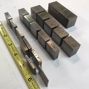 Different Vintage Gages Gage Blocks Spacers Setup Blocks Assortment