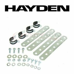 Hayden Engine Oil Cooler Mounting Kit For 1980 1982 Plymouth Tc3 Belts Qs