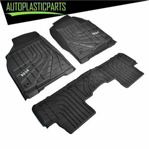 Rubber All Weather Floor Mats Liners For Toyota Highlander 2014 2019 Heavy Duty