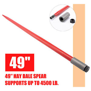 49in Hay Bale Spike 4500lb Capacity Quick Attach For Truck Tractor Loader More