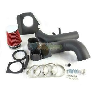 96 04 V8 4 6l Black Piping Cold Air Intake System For Ford Mustang Red Filter