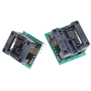 Soic8 Sop8 To Dip8 Wide body Seat Wide 150mil 200mil Programmer Adapter Sock Rbe