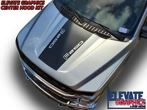 Fits Ford F250 And F350 Center Hood Graphics Vinyl Stripes Decal Stickers 17 21