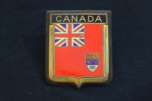 Vintage Canada Grille Badge License Plate Topper Accessory Canada Crest