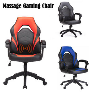 Pc Gaming Chair Racing Leather Office Swivel Executive Computer Desk Task Chair