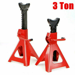 3 Ton Jack Stands Trailer Truck Car Tire Change Repair Lift Tool Adjustable 2pcs