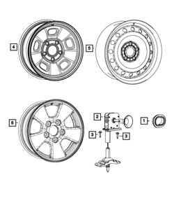 Genuine Mopar Steel Wheel 68089775ab