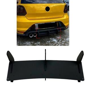 Rear Bumper Diffuser Spoiler For Volkswagen Vw Polo Gti 2011 2012 2013 2014 2018