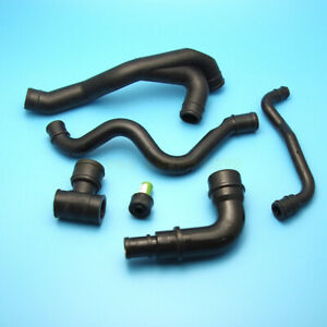 6pcs Engine Pcv Crankcase Exhaust Breather Hose Pipe Fit For Vw Jetta 99 05