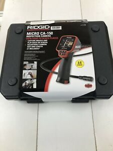Ridgid 36848 Micro Ca 150 Inspection Camera 3 5 Color Lcd interchangeable Head