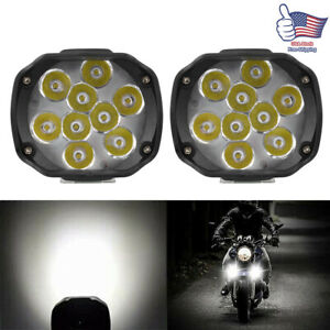 Motorcycle Led External Spot Lights Fog Lamp For Scooter Atv Headlight Universal