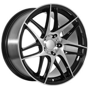 19 Staggered Replica Black machined Rims Fits Bmw 6 7 Series
