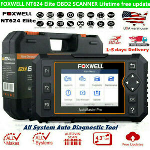 Foxwell Nt624 Elite Full System Obd2 Scanner Auto Code Reader Diagnostic Tool