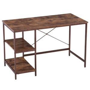 Industrial Style Computer Desk Table Workstation With Shelves Study Home Office