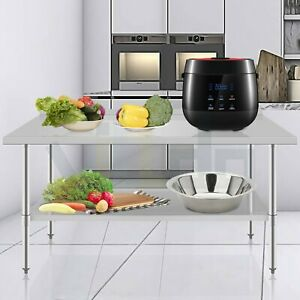 24 X 48 In Commercial Stainless Steel Prep Work Table Nsf Food Restaurant Table