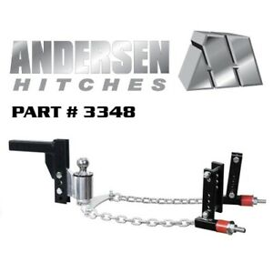 Andersen Nosway Weight Distribution Hitch 8 Drop Rise 2 5 16 Ball 4 3 8 Frame