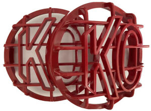 Kc Light Cover Kc Hilites 6 Dark Red Stone Guard Kc Rock Guards