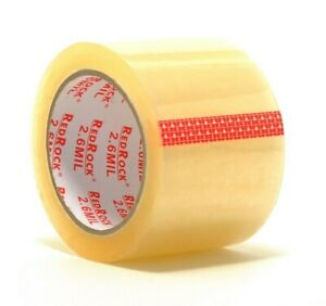 6 Rolls Redrock 3 X 55 Yds 2 6 Mil Clear Heavy duty Packing Shipping Tape