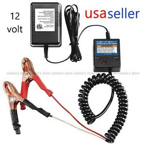 12 Volt Car Battery Charger Maintainer Automatic Float Trickle Atv Motorcycle