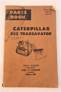 Vintage 1966 Caterpillar 933 Traxcavator Illustrated Parts Book Manual Guide