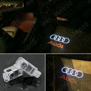 2x Laser Led Logo Door Lamp Puddle Courtesy Projector Shadow Lights Hd For Audi