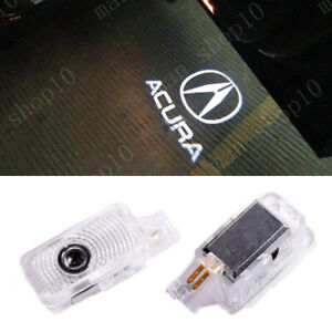 2x White Logo Car Door Projector Led Laser Light Hd For Acura Mdx Rlx Tl Tlx Zdx