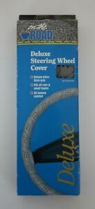 Vintage Nos Classic Accessories Gray Lace On Automotive Car Steering Wheel Cover