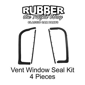 1959 1960 Buick Cadillac Chevy Oldsmobile Pontiac Vent Window Seal Kit 4 Pc