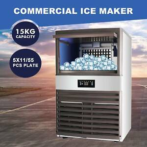 Built in Commercial Ice Maker Portable Auto Cube Machine Stainless Steel Bar