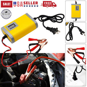 New Auto Car Battery Charger Tender Trickle Maintainer Boat Motorcycle 12v 2 4a