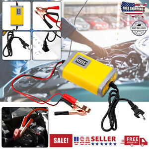 12v 2 4a Auto Car Battery Charger Tender Trickle Maintainer Boat Motorcycle Usa